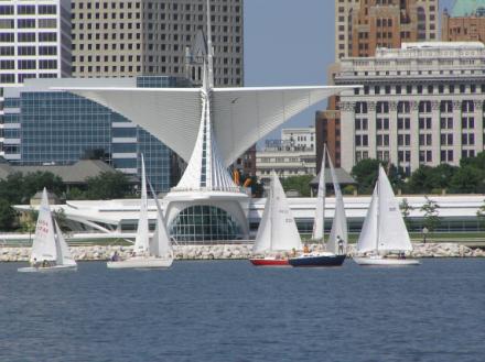 Orca under sail.