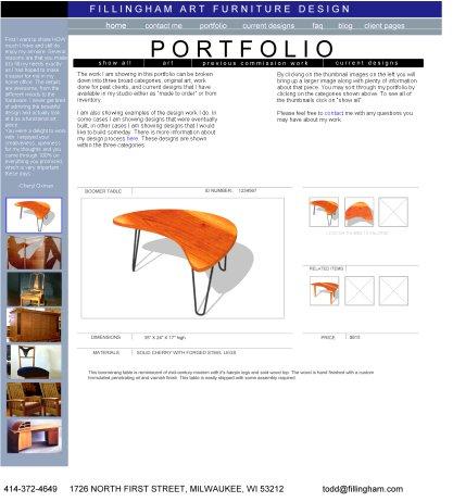 portfolio page mock-up