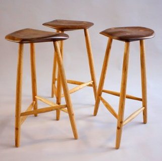 3- 3legged stools by Todd Filingham