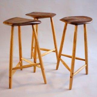 3- 3legged stools by Todd Filingham