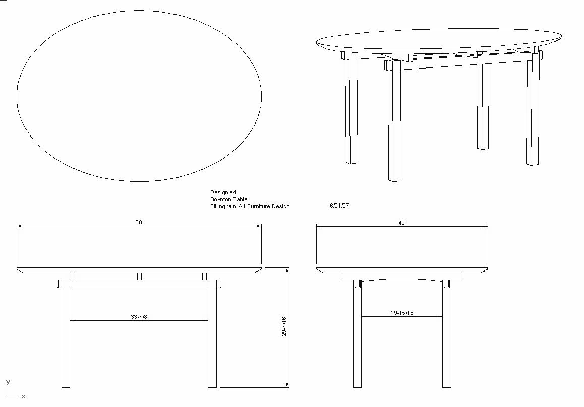 Table Design Fillingham Art Furniture