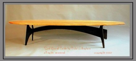 Surf Board Table by Todd Fillingham