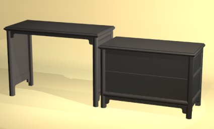 Asian desk and dresser by Todd Fillingham