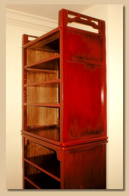 Asian style bookcases by Todd Fillingham