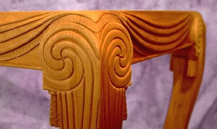 Table carving by Todd Filingham