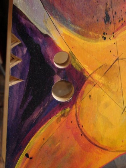 Detail from painted table base by Todd Fillingham.