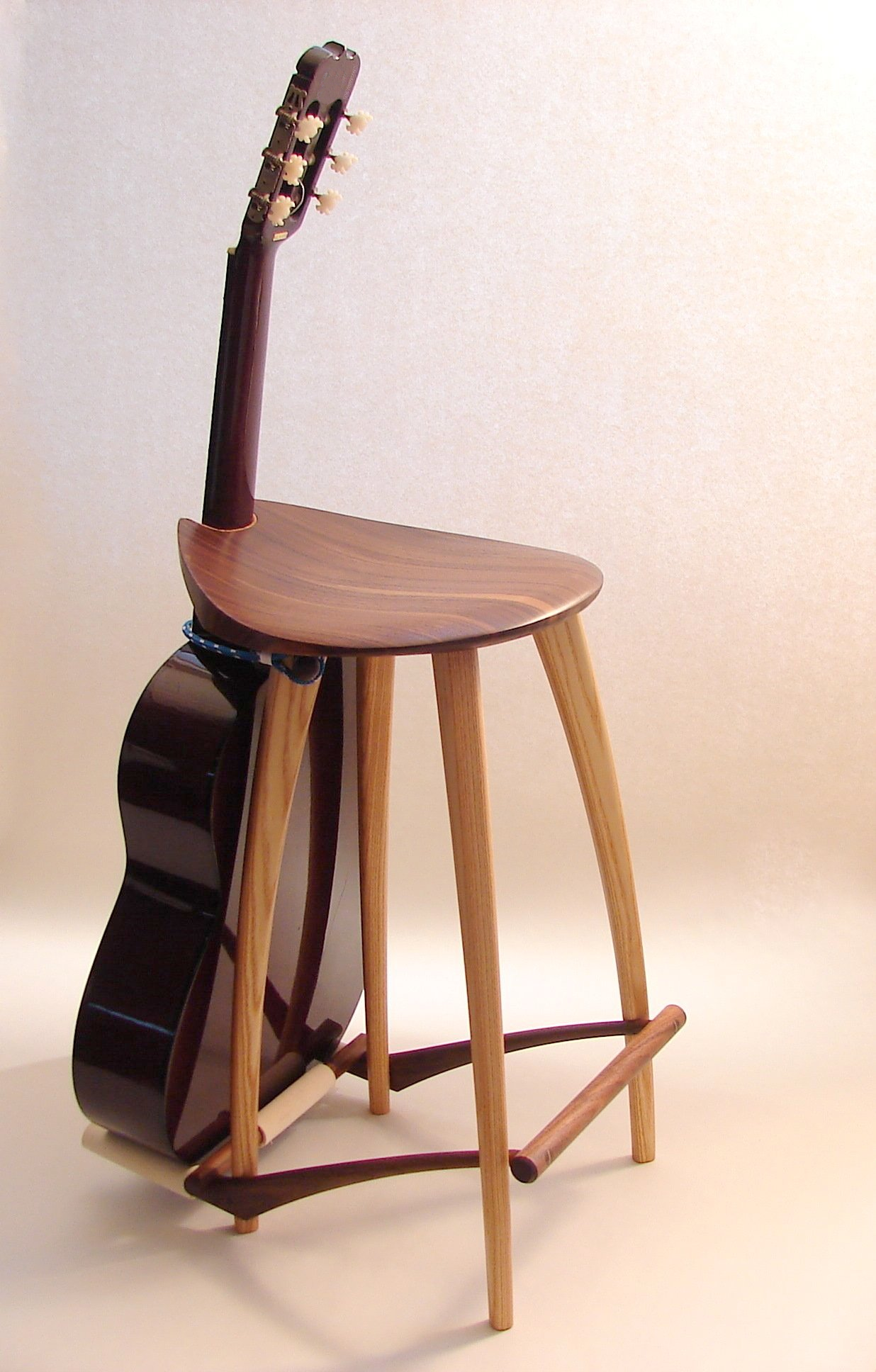 Guitar Stool Stand Fillingham Art Furniture Design