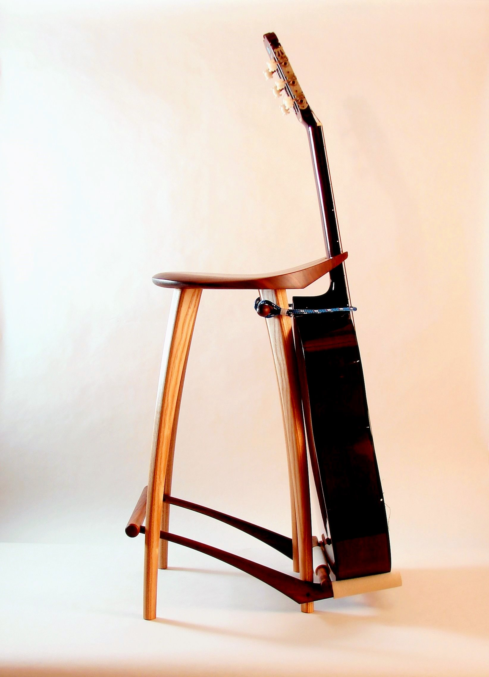 Guitar Stand Designs : Guitar stool stand fillingham art furniture design