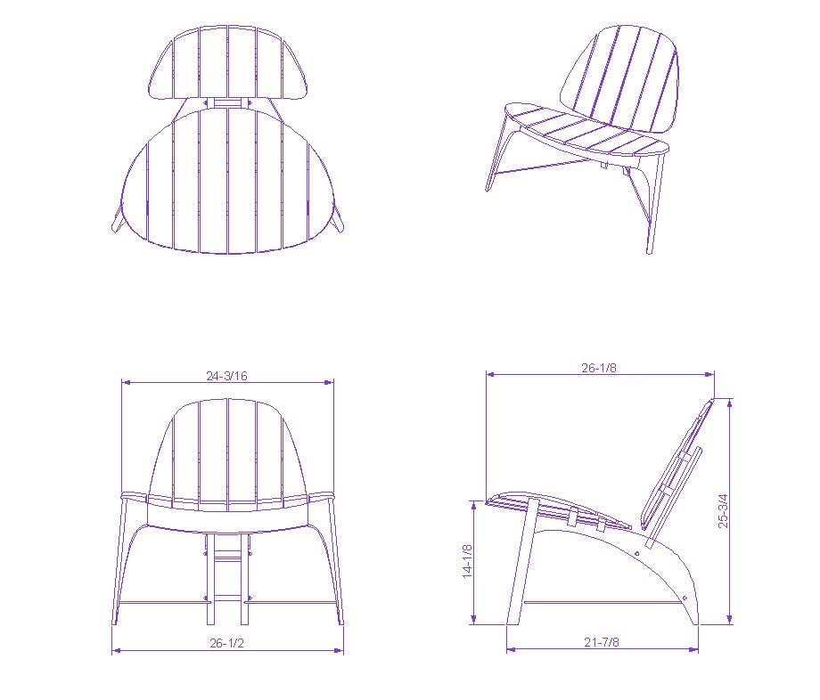 chair plan dwg
