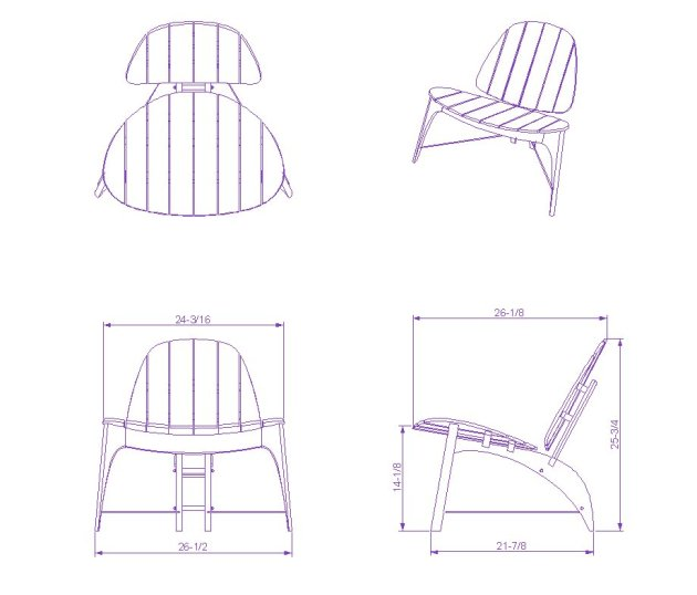 Diy chair plan cad block wooden pdf drill press table for Chaise lounge cad block