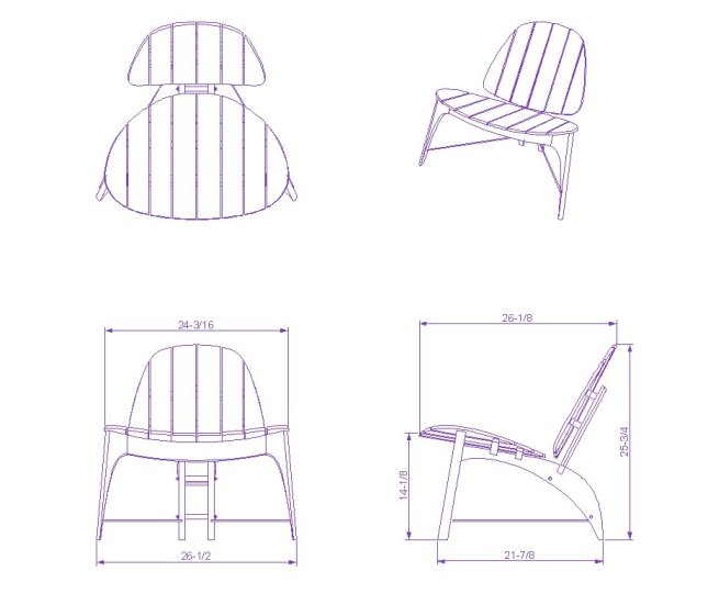 Diy Chair Plan Cad Block Wooden Pdf Free Colonial