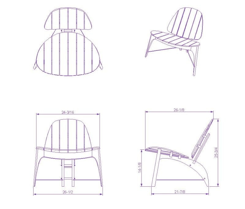 Adirondack Chair Autocad Plan Wooden PDF wood saw blades ...