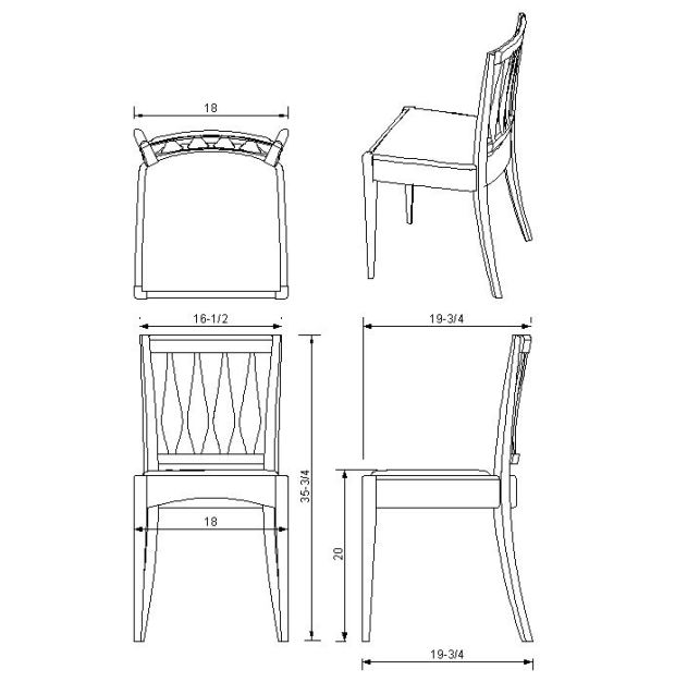 Download Rocking Chair Plan Dwg Plans Free Basic