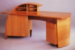 Custom desk, cherry & walnut.