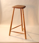 3 legged stool, walnut & cherry.