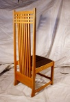 Custom side chair in red oak.
