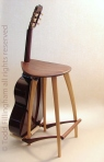 Guitar stool, walnut & ash.