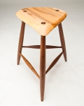 Sculpted maple & walnut stool. Etsy.